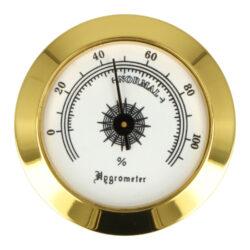 Vlhkoměr Angelo se suchým zipem, 50mm-Standardní vlhkoměr Angelo do humidoru. Pro uchycení do humidoru slouží suchý zip se samolepkami. Barva zlatá. Vnější průměr: 50 mm Vnitřní průměr: 48 mm