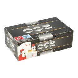 Cigaretové dutinky OCB 100-Cigaretové dutinky OCB 100 pro výrobu vlastních cigaret klasického rozměru King Size. Krabička 100 ks dutinek.  Délka dutinky včetně filtru: 8,2cm Průměr dutinky: 0,8cm