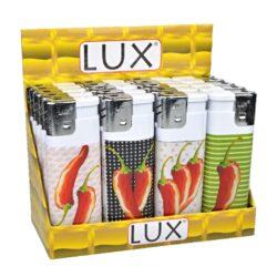 Zapalovač Lux Maxi Hot Chilli-Plynový zapalovač. Zapalovač je plnitelný. Prodej pouze po celém balení (displej) 20 ks. Výška zapalovače 11,5cm.