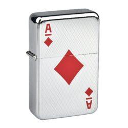 Benzínový zapalovač Angel Poker-Benzínový zapalovač Angel. Zapalovač je dodáván bez náplně. Výška zapalovače 5,5cm. Před odesláním objednávky uveďte číslo barevného provedení do poznámky.