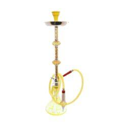 Vodní dýmka Alqariab 82cm barevná-Vodní dýmka Alqariab. Velká vodní dýmka vysoká 82cm má jeden šlauch. Provedení vodní dýmky barevné. Vodní dýmka je dodávána s příslušenstvím.