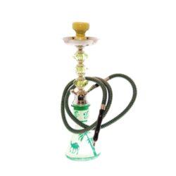 Vodní dýmka Alqariab 45cm barevná-Vodní dýmka Alqariab. Střední vodní dýmka vysoká 45cm má jeden šlauch. Provedení vodní dýmky barevné. Vodní dýmka je dodávána s příslušenstvím.