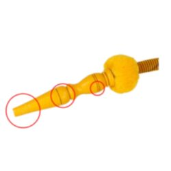 Vodní dýmka Alqariab Tulip 85cm žlutá(SJR01)