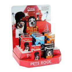 Zapalovač Champ Pets Rock-Kovový plynový zapalovač. Zapalovač je plnitelný. Výška zapalovače 5cm. Při nákupu celého balení (12ks), je dodáván stojánek z kartonu.