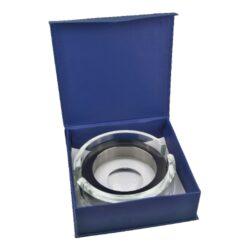 Doutníkový popelník skleněný chrom(422220)