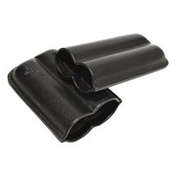 Pouzdro na 2 doutníky Etue, černé, kožené, 120mm(81204)