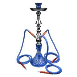 Vodní dýmka Gobi 65cm modrá-Vodní dýmka Gobi. Velká vodní dýmka vysoká 65cm má tři šlauchy. Barva vodní dýmky modrá. Vodní dýmka je dodávána s příslušenstvím.