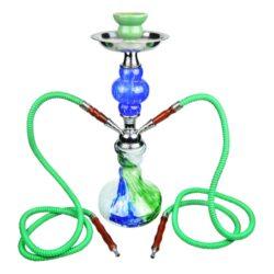 Vodní dýmka Gibson 45cm zelenomodrá-Vodní dýmka Gibson. Střední vodní dýmka vysoká 45cm má dva šlauchy. Barva vodní dýmky zelenomodrá. Vodní dýmka je dodávána s příslušenstvím.