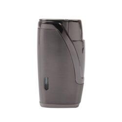 Doutníkový zapalovač Hadson Bachelor, gunmetal-Doutníkový zapalovač. Tryskový zapalovač na doutníky obsahuje integrovaný vyštípávač. Zapalovač je plnitelný. Doutníkový zapalovač je dodáván v dárkové krabičce. Výška 6,5cm.