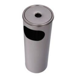 Venkovní popelník - odpadkový koš, 58cm-Venkovní popelník - odpadkový koš. Venkovní popelník je kovový. Popelník venkovní s košem má rozměr 58x28cm.