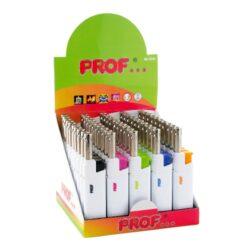 Domácnostní zapalovač Prof Cobia White, Colors-Plynový domácnostní zapalovač. Zapalovač je plnitelný. Prodej pouze po celém balení (displej) 50 ks.