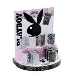Zapalovač Champ Playboy Card-Kovový plynový zapalovač Playboy. Zapalovač je plnitelný. Výška: 5,5cm. Při nákupu celého balení (12ks), je dodáván stojánek z kartonu.