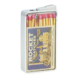 Zapalovač Champ Matches-Kovový plynový zapalovač. Zapalovač je plnitelný. Výška zapalovače 5,5cm. Při nákupu celého balení (12ks), je dodáván stojánek z kartonu.