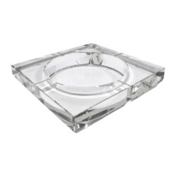 Doutníkový popelník skleněný, hranatý-Doutníkový popelník na 4 doutníky, skleněný. Hranatý popelník na doutníky má rozměry 15x15cm.