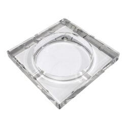 Doutníkový popelník skleněný, hranatý(09627)