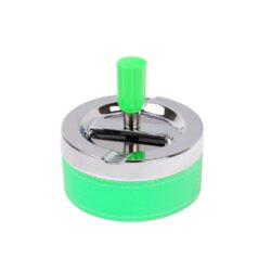 Cigaretový popelník otočný Neon zelený, kovový-Cigaretový popelník otočný Neon. Samozhášecí popelník na cigarety je kovový, průměr 9,5cm.