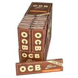 Cigaretové papírky OCB Virgin Slim+Filters-Cigaretové papírky OCB Virgin Slim+Filters. Ultratenký nebělený papír. Knížečka 32 papírků + 32 filtrů. Prodej pouze po celém balení (displej) 32 ks.