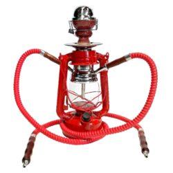 Vodní dýmka Lucerna 33cm červená-Vodní dýmka Lucerna. Střední vodní dýmka vysoká 33cm má dva šlauchy. Barva vodní dýmky červená. Vodní dýmka je dodávána s příslušenstvím.
