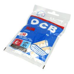 Cigaretové filtry OCB Slim s lepícím proužkem-Cigaretové filtry OCB Slim s lepícím proužkem. Při balení lepivý proužek lépe uchytí filtr k papírku. Průměr 6 mm. Sáček 150 ks filtrů. Cena uvedená za jedno balení (sáček).
