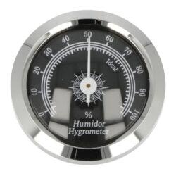 Vlhkoměr Angelo, 45mm, chrom-Standardní vlhkoměr Angelo do humidoru. Vhodný do středních nebo větších humidorů. Pro uchycení do humidoru slouží magnet s oboustrannou lepicí páskou, které jsou součástí balení. Provedení: chrom. Vlhkoměr je vhodný pro humidory 82006 a 82014. Vnější průměr: 45 mm Vnitřní průměr pro vložení: 36 mm