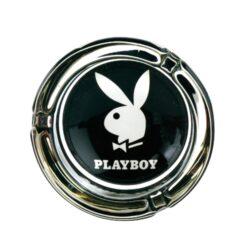 Cigaretový popelník Playboy, skleněný-Cigaretový popelník Playboy. Popelník na cigarety je skleněný, průměr 8,5cm.