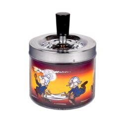 Cigaretový popelník otočný Firemans, kovový-Venkovní cigaretový popelník otočný Firemans. Samozhášecí popelník na cigarety je kovový, průměr 9,5cm.
