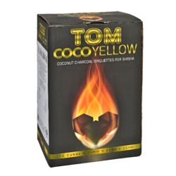 Uhlíky do vodní dýmky Tom Cococha Yellow, kokosové, dlouhohořící, 1kg-Přírodní kokosové uhlíky do vodní dýmky nebo na grilování. Uhlíky jsou vyrobeny z kokosových skořápek(Indonésie), které jsou zbytkovým produktem při zpracovaní kokosu. Kokosové uhlíky do vodní dýmky jsou bez obtěžujícího zápachu a kouře. Tím neovlivňují chuť tabáku. Kokosové uhlíky hoří nejméně 2 hodiny. Balení 1 kg(72ks). Velikost uhlíku 25x25x25mm.