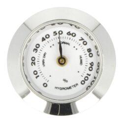 Náhradní vlhkoměr Angelo pro humidory 920040, kulatý, 29mm-Náhradní vlhkoměr Angelo pro humidory 920040. Provedení: lesk chrom. Vnější průměr: 29 mm Vnitřní průměr: 25 mm