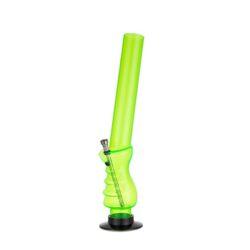 Bong akryl (plast) 45cm, zelený-Akrylový (plastový) bong zalomený. Výška: 45 cm Průměr: 5 cm Materiál: akryl