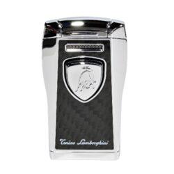 Tryskový zapalovač Lamborghini Argo, černostříbrný-Tryskový zapalovač Argo Tonino Lamborghini. Zapalovač je plnitelný. Tryskový zapalovač je dodáván v dárkové krabičce.