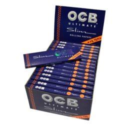 Cigaretové papírky OCB Ultimate Slim+Filters-Cigaretové papírky OCB Ultimate Slim+Filters. Nejlehčí papírky s váhou pouze 10g/m2 pro ještě větší požitek. Knížečka obsahuje 32 papírků + 32 papírových filtrů. Rozměry papírku: 44x109mm. Prodej pouze po celém balení (displej) 32ks. Cena je uvedená za 1ks.