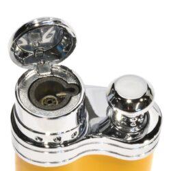 Tryskový zapalovač Siglo Bean Shape, žlutý(10451D)
