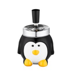 Cigaretový popelník otočný Penguin, keramický-Cigaretový popelník otočný Penguin. Samozhášecí popelník na cigarety je keramický, průměr 9,5cm.