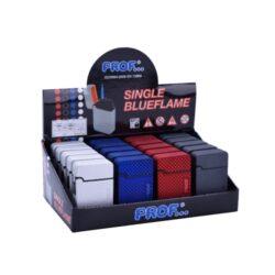 Tryskový zapalovač Prof Blue Flame Points-Tryskový zapalovač s jednou tryskou. Zapalovač je plnitelný. Prodej pouze po celém balení (displej) 20 ks.