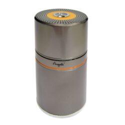 Humidor na doutníky Angelo 7D, cestovní-Cestovní humidor na doutníky s kapacitou 7 doutníků. Dodáván s vlhkoměrem a zvlhčovačem. Vnitřek humidoru je vyložený cedrovým dřevem. Rozměr: 20x9 cm. Provedení: kovové.