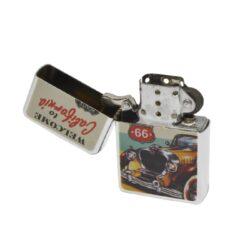 Benzínový zapalovač Retro Car-Benzínový zapalovač. Zapalovač dodáván bez náplně. Výška zapalovače 5,5cm.