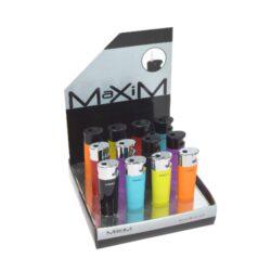 Zapalovač Maxim Dixon-Plynový zapalovač. Zapalovač je plnitelný. Výška: 7,3cm. Prodej pouze po celém balení (displej) 12 ks.