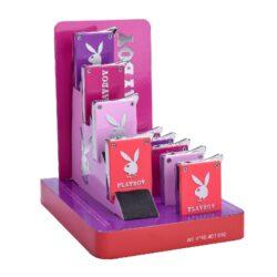 Zapalovač Champ Playboy Pink-Kovový plynový zapalovač Playboy. Zapalovač je plnitelný. Výška 5 cm. Při nákupu celého balení (12ks), je dodáván stojánek z kartonu.