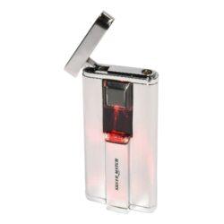 Zapalovač Silver Match Gateway, el. zapalování-Žhavící zapalovač s elektrickým zapalováním. Žhavící elektrický zapalovač se zapálí otevřením horního krytu a přiložením palce na červeně podsvícenou plochu. Výška zapalovače 7,5cm. Elektrický zapalovač je plnitelný. Zapalovač je dodáván včetně výměnné baterie. Cena je uvedena za 1 ks. Před odesláním objednávky uveďte číslo barevného provedení do poznámky.