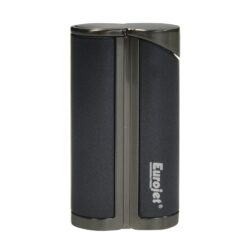 Tryskový zapalovač Eurojet Yorki, černý-Tryskový zapalovač. Zapalovač je plnitelný. Výška 6,5cm. Tryskový zapalovač je dodáván v dárkové krabičce.