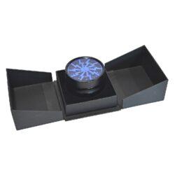 Drtič tabáku Alu - Blue, kovový(340128)