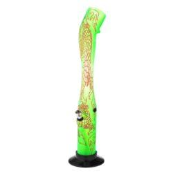 Bong Dragon akryl (plast) 41cm, zelený-Akrylový (plastový) bong Dragon. Bong je zdobený kresbou draka. Výška: 41 cm Průměr: 5 cm Materiál: akryl