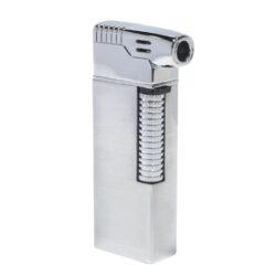 Dýmkový zapalovač Hadson Kansas Pipe, stříbrný-Dýmkový zapalovač kamínkový. Dýmkový zapalovač obsahuje výklopné dýmkové příslušenství. Zapalovač je plnitelný a je dodáván v dárkové krabičce. Výška 7,7 cm.