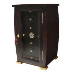 Humidor na doutníky Angelo Cabinet 140D, stolní-Stolní humidor na doutníky s kapacitou cca 140 doutníků. Dodáván s vlhkoměrem a zvlhčovačem. Vnitřek humidoru je vyložený cedrovým dřevem. Vnitřní rozměr zásuvky 22,5x22,5x4,5 cm. Celkový rozměr humidoru 53x31x30 cm.
