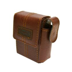 Pouzdro na cigarety Angelo Box, světlehnědé-Pouzdro na cigarety (pouzdro na krabičku cigaret) velikosti KING SIZE. Cigaretové pouzdro má boční uzavíratelnou kapsou na zapalovač. Rozměry: 8,7x6,1x2,4cm. Pouzdro na cigarety je z prošívané syntetické kůže.