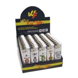 Zapalovač Wildfire Piezo Look-Plynový zapalovač. Zapalovač je plnitelný. Prodej pouze po celém balení (displej) 50 ks.