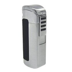 Doutníkový zapalovač Hadson Terz, stříbrný-Doutníkový zapalovač. Tryskový zapalovač na doutníky obsahuje integrovaný vyštípávač. Zapalovač je plnitelný. Doutníkový zapalovač je dodáván v dárkové krabičce. Výška 8cm.