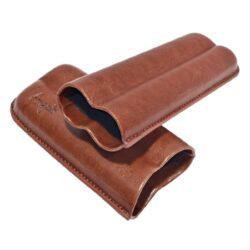 Pouzdro na 2 doutníky Etue Angelo, hnědé, koženka, 160mm(81210)
