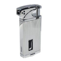 Dýmkový zapalovač Eurojet Aberdeen, stříbrný-Dýmkový zapalovač. Kombinace zapalovače s normálním plamenem a tryskovým. Dýmkový zapalovač je plnitelný. Zapalovač je dodáván v dárkové krabičce. Výška 7,2cm.