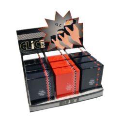 Pouzdro Clic Boxx Poker Signs na cigarety-Pouzdro na cigarety. Pouzdro na cigarety Clic Boxx  - pouzdro na krabičku cigaret (20ks) velikosti King Size. Po stisknutí dojde k otevření pouzdra díky pružince. Rozměry: 9,5x5,8x2,4cm. Pouzdro na cigarety je plastové.